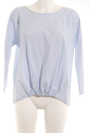 COS Langarm-Bluse hellblau-weiß Streifenmuster Casual-Look