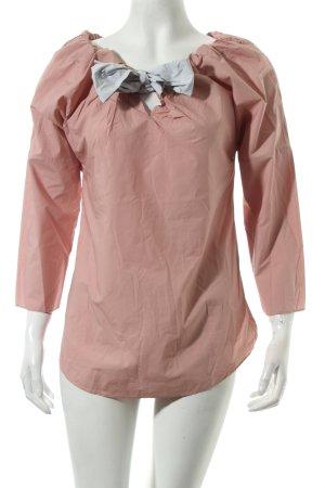 COS Langarm-Bluse rosé-hellgrau Elegant