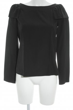 COS Long Sleeve Blouse black Frill trimming