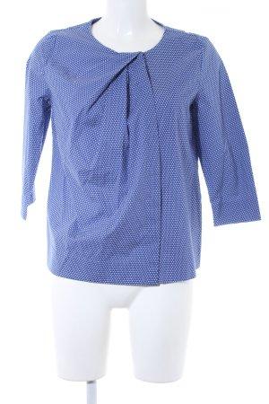 COS Langarm-Bluse stahlblau-weiß abstraktes Muster