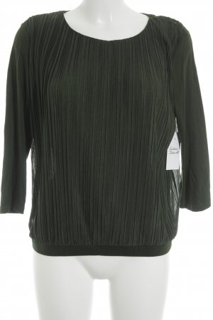 COS Long Sleeve Blouse forest green street-fashion look