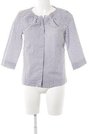 COS Langarm-Bluse weiß-dunkelblau Punktemuster Casual-Look