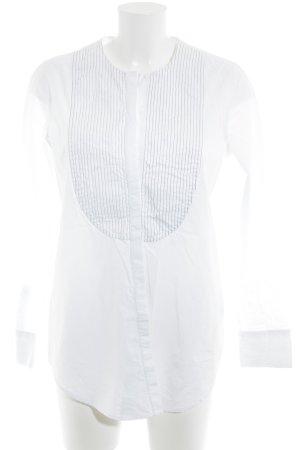 COS Langarm-Bluse weiß-grau Streifenmuster Business-Look