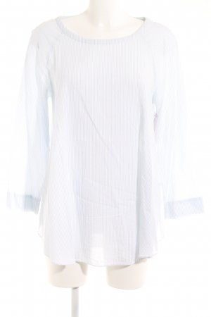 COS Langarm-Bluse weiß-hellblau Streifenmuster Elegant