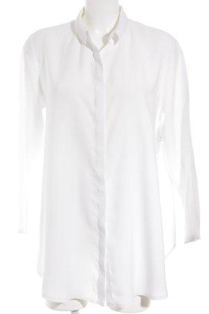 COS Langarm-Bluse weiß schlichter Stil