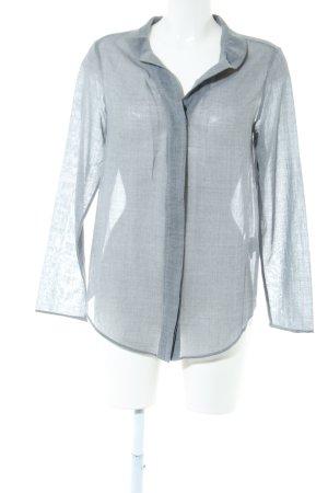 COS Long Sleeve Shirt light grey weave pattern casual look