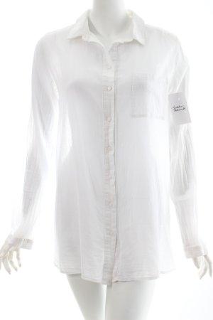 COS Langarmhemd weiß klassischer Stil