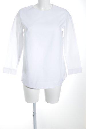 COS Langarmhemd weiß Materialmix-Look