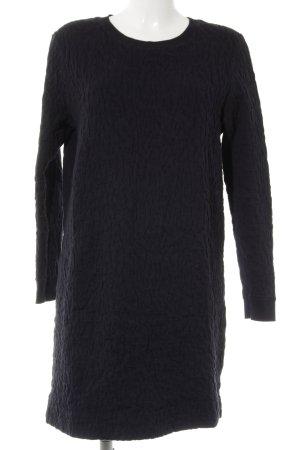 COS Longsleeve Dress dark blue abstract pattern casual look