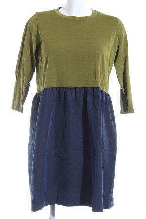 COS Langarmkleid dunkelblau-grasgrün Casual-Look