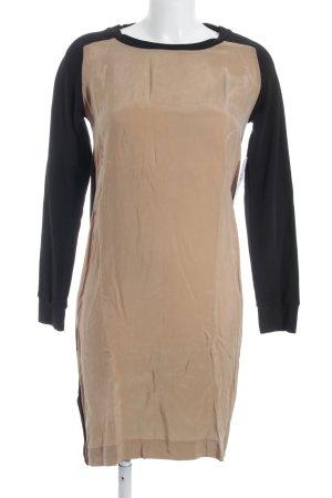 COS Langarmkleid schwarz-beige Casual-Look