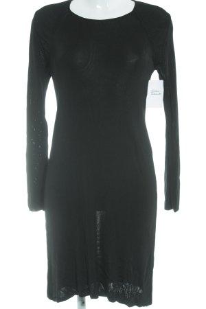 COS Jurk met lange mouwen zwart simpele stijl