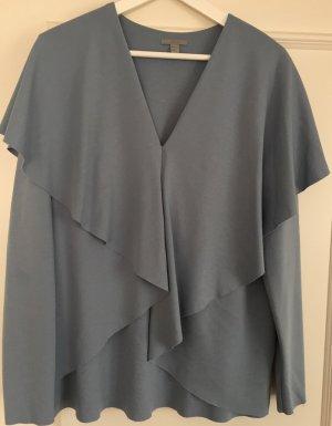 COS +++ Langarmshirt/-bluse +++ grau/blau +++ Gr. L