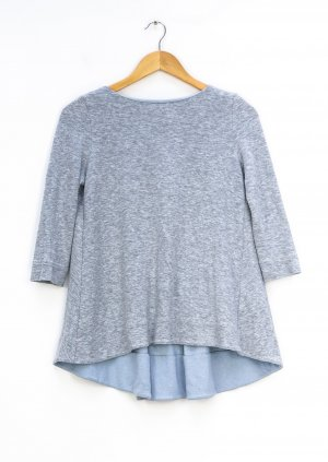 COS Oversized Shirt silver-colored-azure