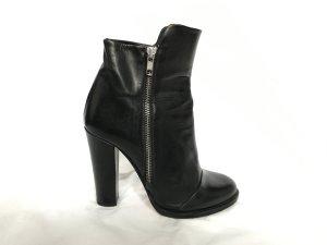 COS Leder Stiefeletten Ankle Boots mit Zipper, Größe 40
