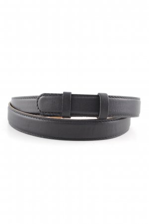 COS Faux Leather Belt black-light brown business style