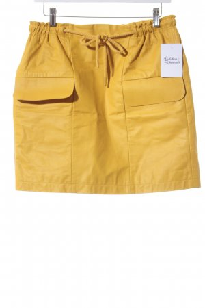 COS Leather Skirt dark yellow casual look