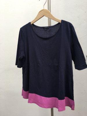 COS Leichtes Shirt dunkelblau mit Lila