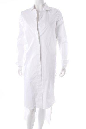 COS Long-Bluse weiß minimalistischer Stil