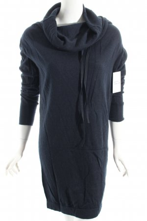 COS Long Sweater dark blue athletic style