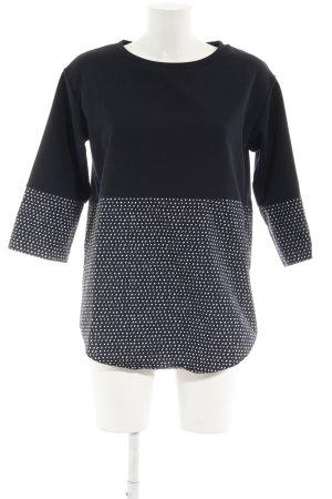 COS Longshirt dunkelblau-weiß Farbtupfermuster Brit-Look
