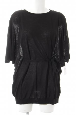 COS Lang shirt zwart casual uitstraling