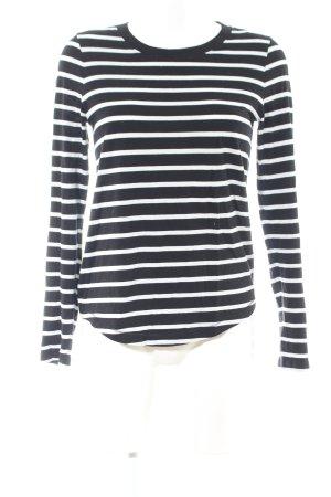 COS Longsleeve schwarz-weiß Streifenmuster Casual-Look