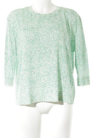 COS Longsleeve weiß-grün Punktemuster Street-Fashion-Look