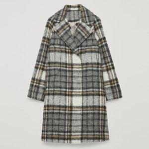 COS Mantel, Checked Coat, Mohair, Alpaka