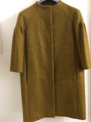 COS Oversized Coat lime yellow wool