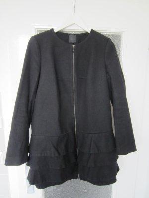 COS Mantel schwarz Wolle Cashmere Gr. 38 TOP