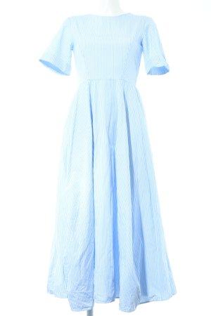 COS Maxikleid blau-weiß Streifenmuster Business-Look