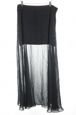 COS Maxi Skirt dark blue transparent look