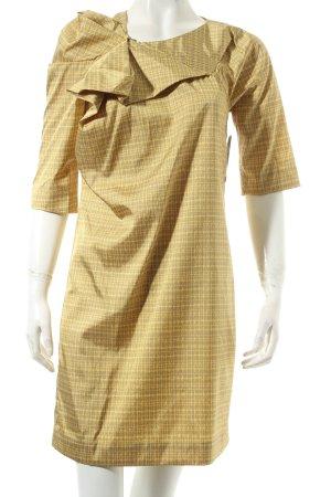 COS Minikleid gelb-ocker abstraktes Muster extravaganter Stil