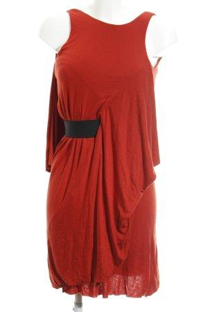COS Mini-jurk rood-zwart elegant