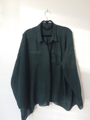 COS Fashion petrol-forest green polyester