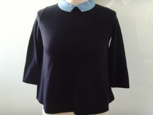COS Wool Sweater dark blue-light blue wool