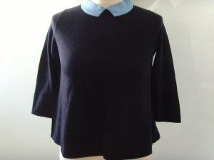 COS Maglione di lana blu scuro-azzurro Lana