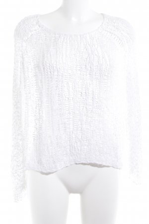COS Mesh Shirt white loosely knitted pattern transparent look