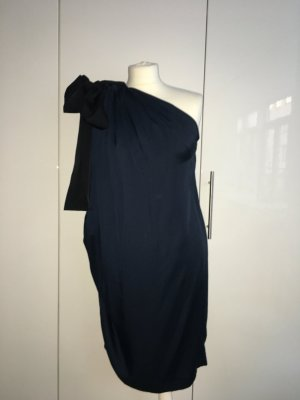 COS One-Shoulder-Kleid mit Schleife, dunkelblau, Gr. 38