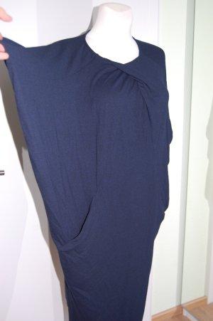 COS vestido de globo azul oscuro-negro tejido mezclado