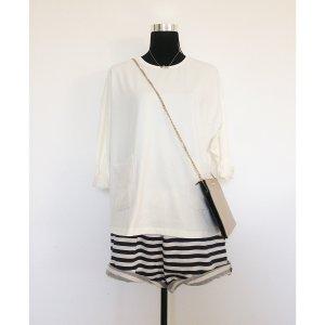 COS oversize Shirt creme weiß M 38 40 langärmelig Rundhalsausschnitt NEU