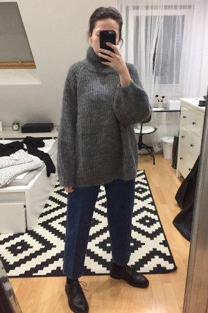 COS Jersey holgados gris-gris oscuro mohair