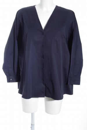 COS Oversized Blouse dark blue simple style