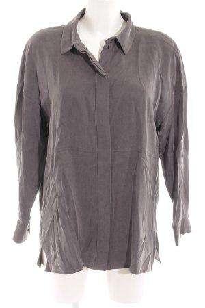 COS Blusa taglie forti grigio scuro stile casual