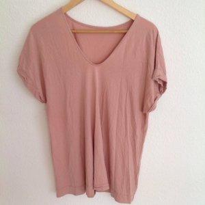COS Oversized Boyfriend Shirt Viskose Nude Rosé Altrosa M L