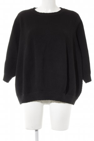 COS Oversized Pullover schwarz Punktemuster Casual-Look