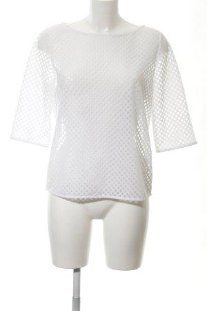 COS Oversized shirt wit geruite print transparante uitstraling
