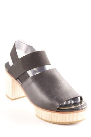 COS Plateau-Sandaletten schwarz-beige extravaganter Stil