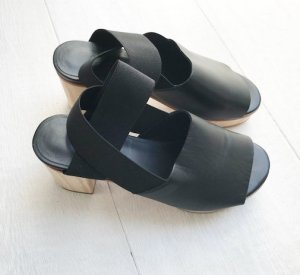 COS Clog Sandals black leather